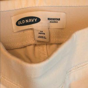 Old Navy Jeans - Size 14P white Old Navy Rockstar Jeggings